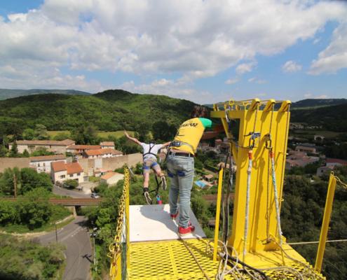 seajump saut élastique paysages Hérault Sud France