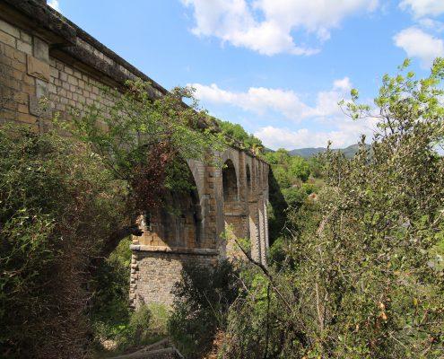 Le viaduc de Boussagues situé à la Tour sur Orb